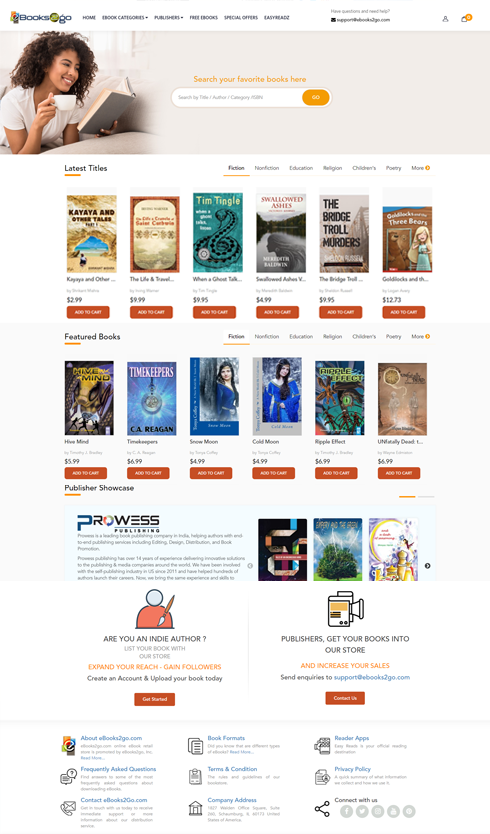 distribute your eBooks through our own online bookstore